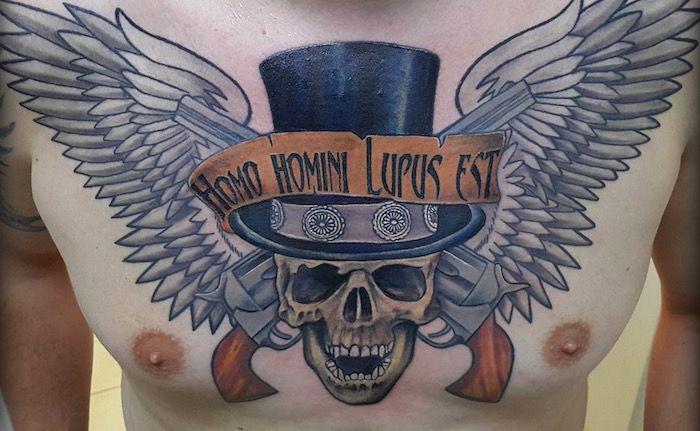 Homo homini Lupus est тату на латыни фото