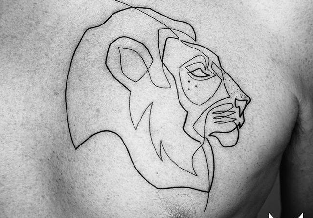 Mo Ganji Tattoo lion