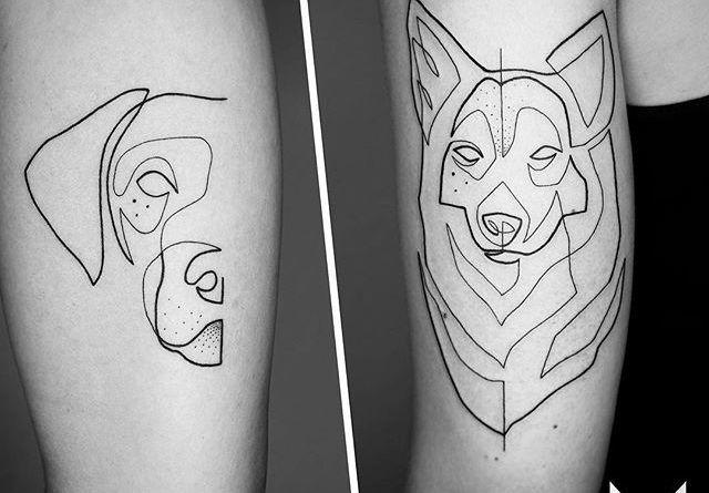 Mo Ganji line tattoo