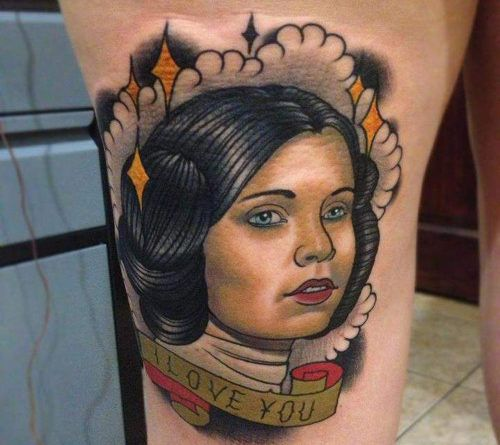 StarWars Leia tattoo