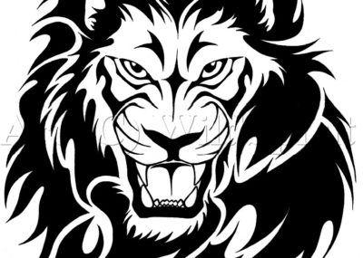 Трайбл эскизы лев