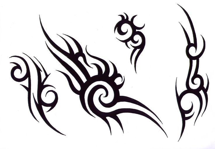 Трайбл-тату: 70 эскизов татуировки26