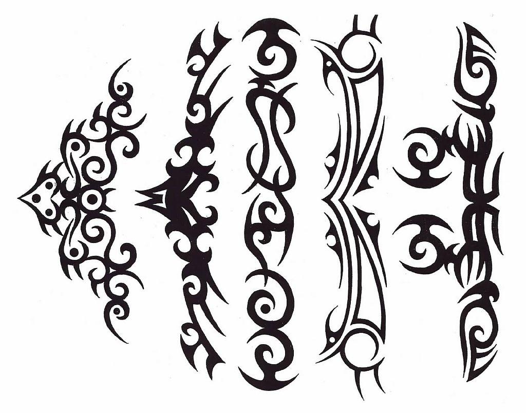 Трайбл-тату: 70 эскизов татуировки31