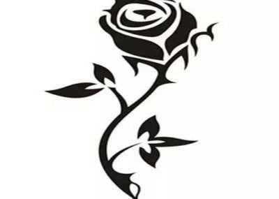 Трайбл эскизы роза