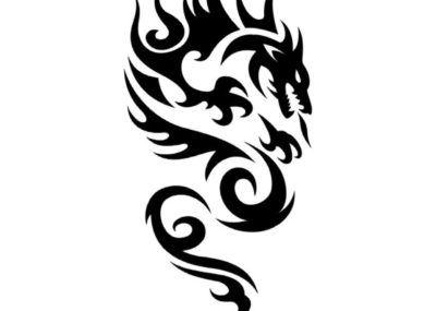 Трайбл эскизы дракон