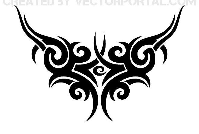 Tribal Designs Tattoo bw