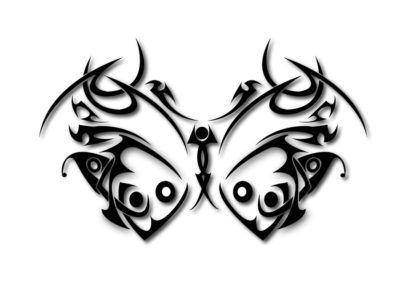Трайбл эскизы бабочка