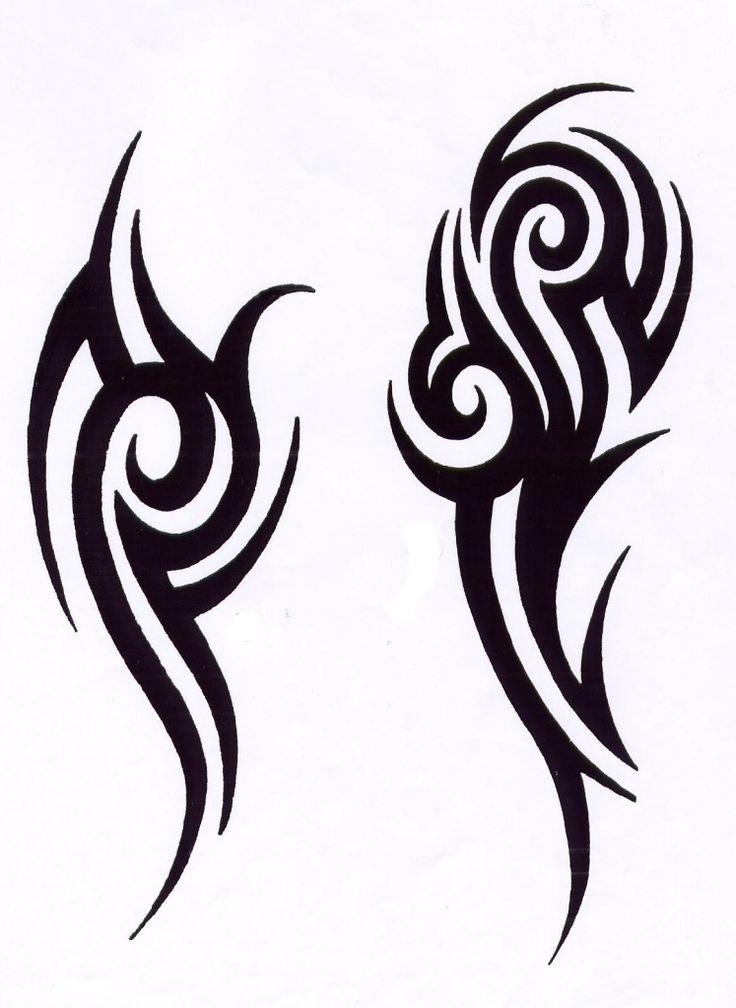 Трайбл-тату: 70 эскизов татуировки64