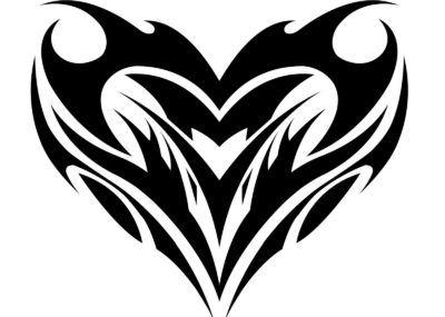 Трайбл эскизы сердце
