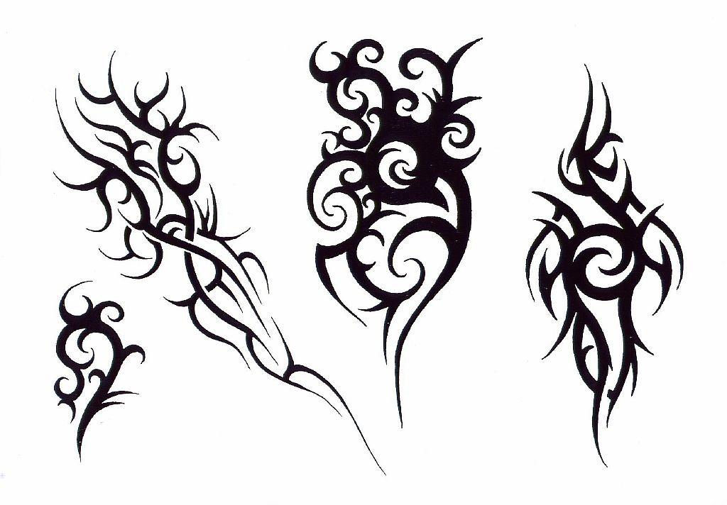 Трайбл-тату: 70 эскизов татуировки5