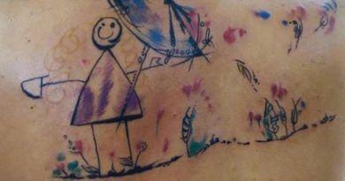 kid tattoo back