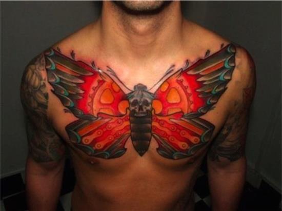 Идеи мужских татуировок на груди