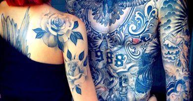 100 фото: Татуировки мужские на грудной клетке. Каталог красивых татух