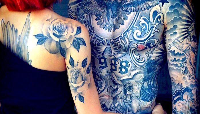 100 ФОТО! Татуировки мужские на грудной клетке
