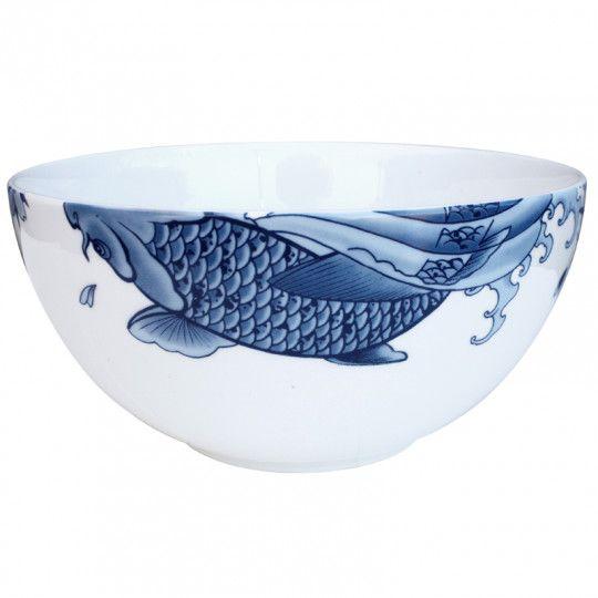 Японская татуировка карп на посуде