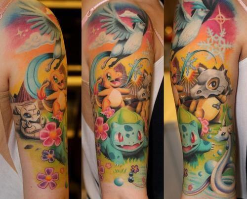 Татуировки Pokemon Go   onTattoo