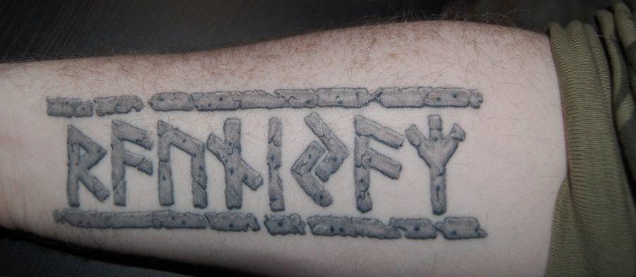 runic tattoo by heartfullofhell daqo