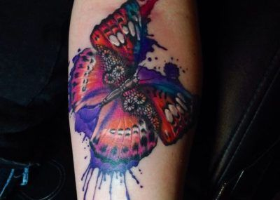 тату кружева бабочка