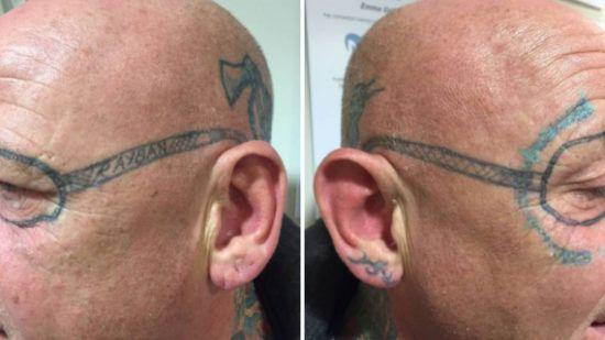 Ray Ban sunglass tattoo