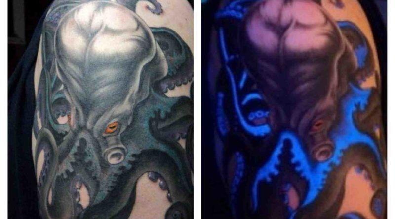 УФ-тату светящаяся татуировка