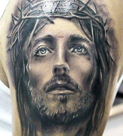 Тату портрет Иисус onTattoo