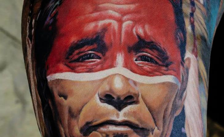 Тату портрет Индеец onTattoo