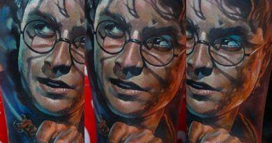 Тату портрет Гарри Поттер onTattoo