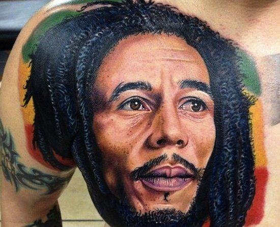 Боб Марли Тату портрет onTattoo
