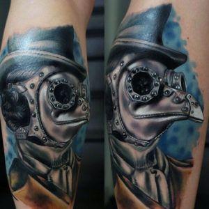 50 крутых мужских татуировок в стиле стимпанк