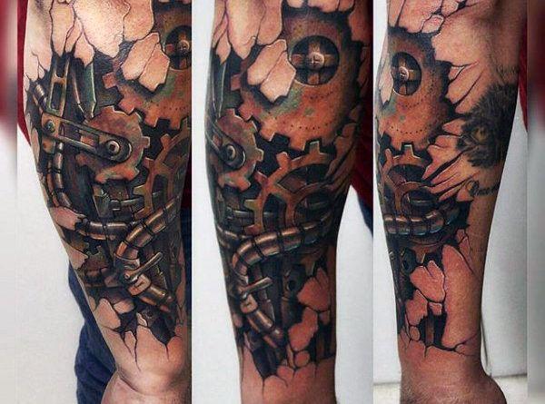 steampunk man Tattoo