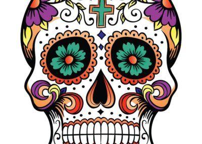 эскизы татуировок череп