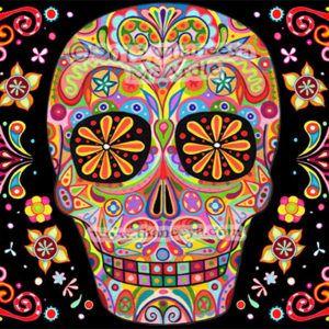Эскизы татуировок с ярким мексиканским черепом (40 фото)