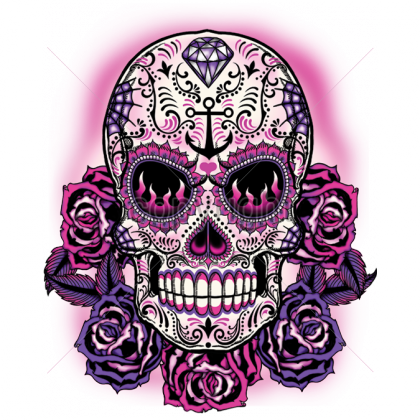 tattoo calavera череп тату фиолетовый