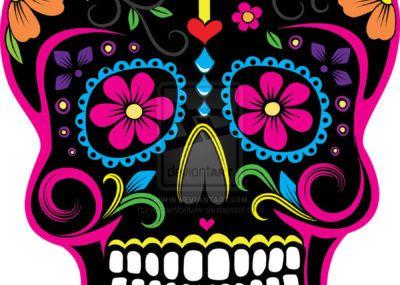 эскизы тату череп мексиканский