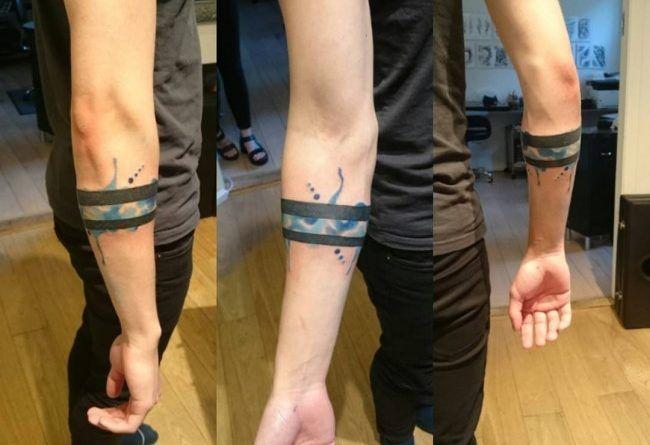 Татуировка браслет на руке