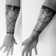 Татуировки браслет на руке (50 фото)