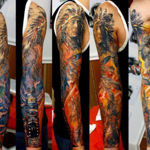 Индейцы и их традиции в татуировке (65 фото)