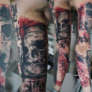 Волки, черепа, шипы и розы в арт-татуировке (40 фото)