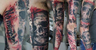 черепа в татуировке