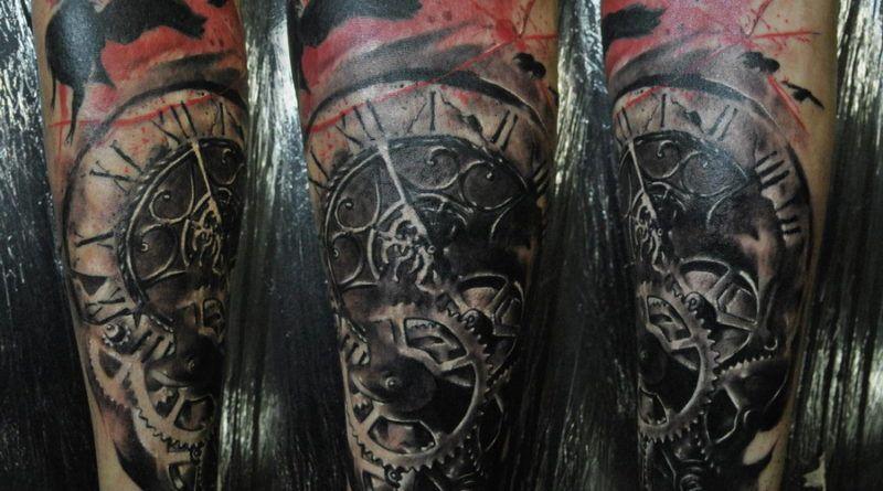 татуировка часы трешполька