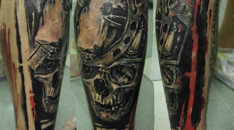 череп в татуировке