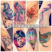 Watercolor: Акварельные татуировки Adrian Bascur (50 фото)