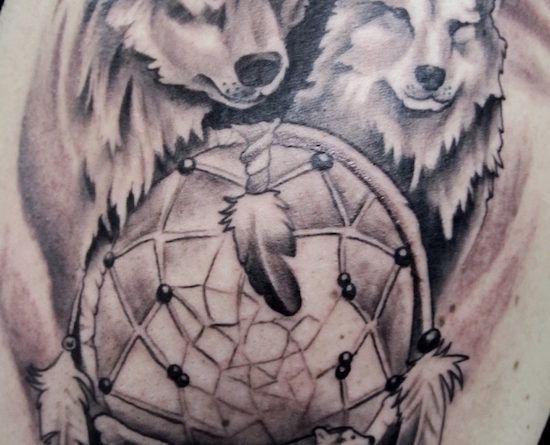 Тату с волком wolf-tattoo