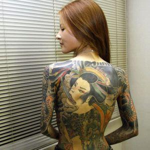 Японский стиль тату: доблесть и мужество самураев и женственность гейш.