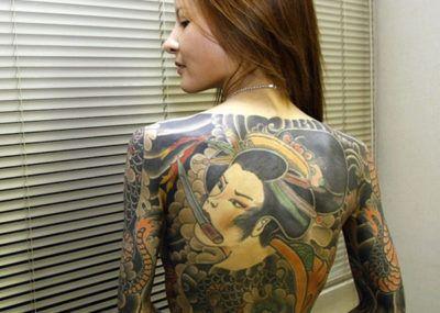 тату в японском стиле для девушек