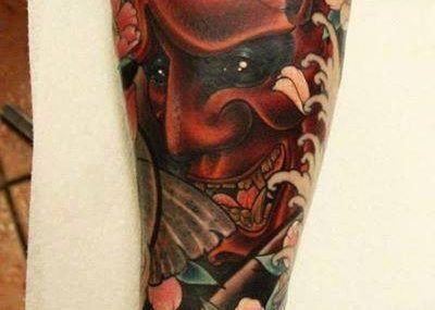 тату в японском стиле демон