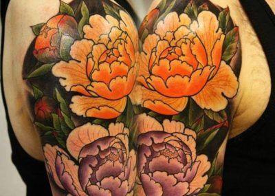 тату в японском стиле цветы