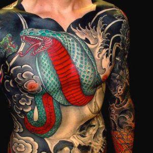 Стили тату: японская татуировка (50 фото)