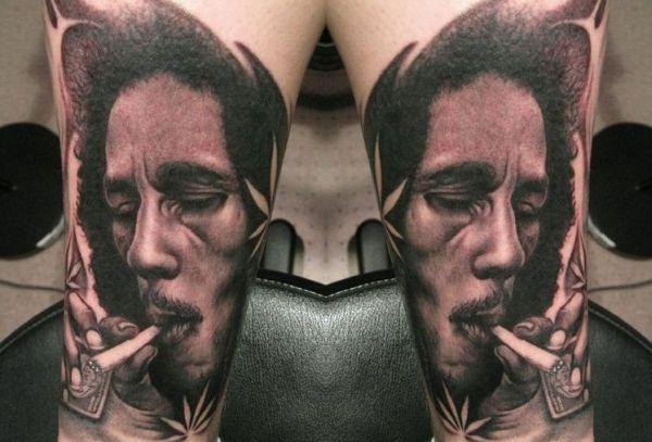 bob marley tattoo