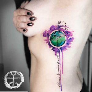 Красивые и яркие акварельные татуировки Koray Karagozler